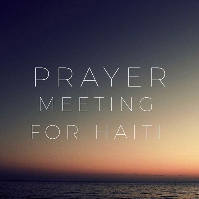 Join us tonight at 5 in the cafe to pray over Haiti.