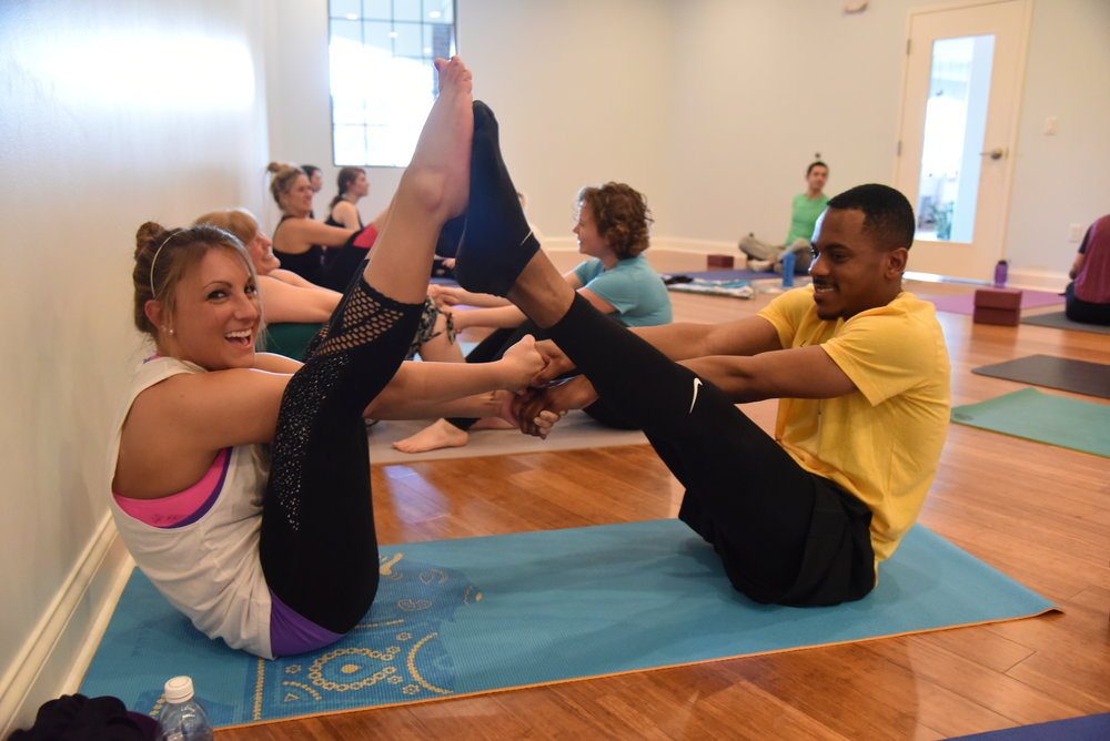 partner yoga at blue ridge yoga Knoxville