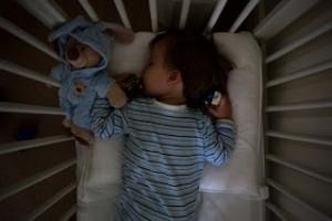 Child in crib