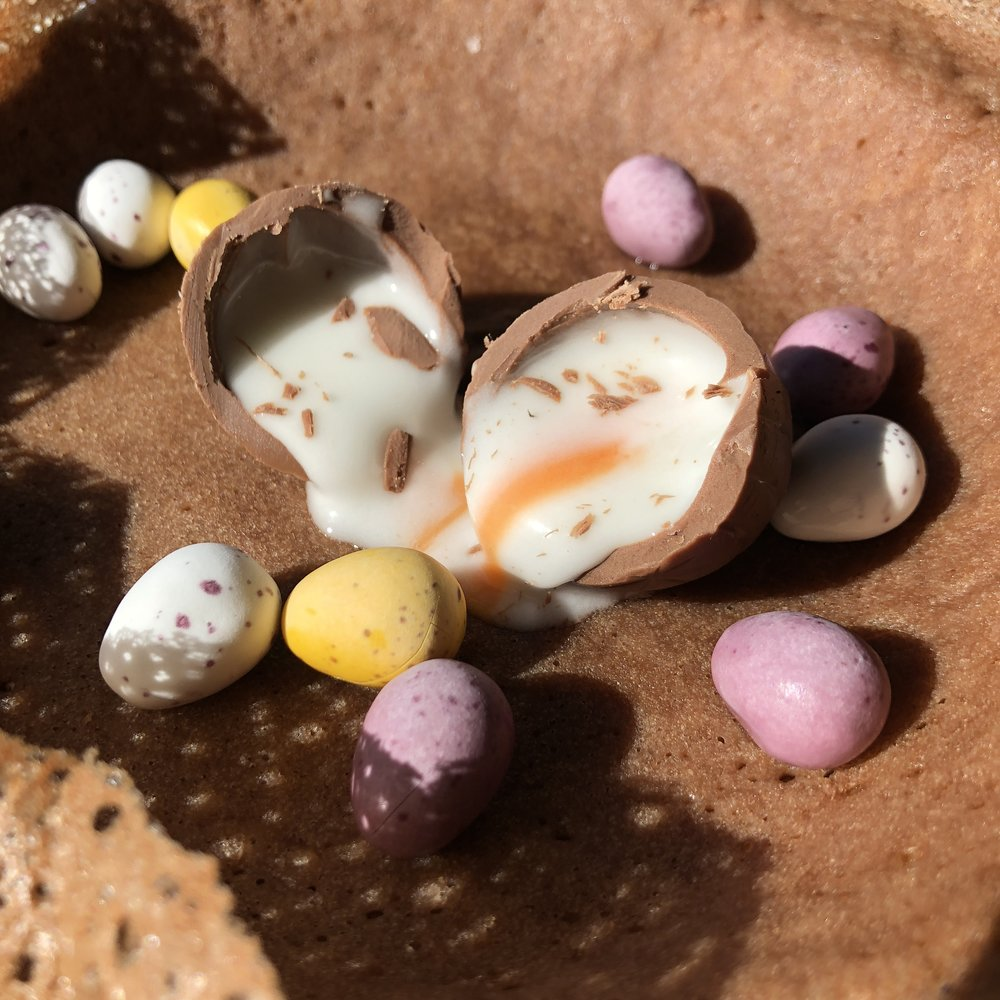 Naughty but nice this Easter - A twist on our classic savoury Sri Lankan Hopper.On the menu from Good Friday to Easter Monday only.Come and try our.... 'oozing creme egg choccy Hopper'.