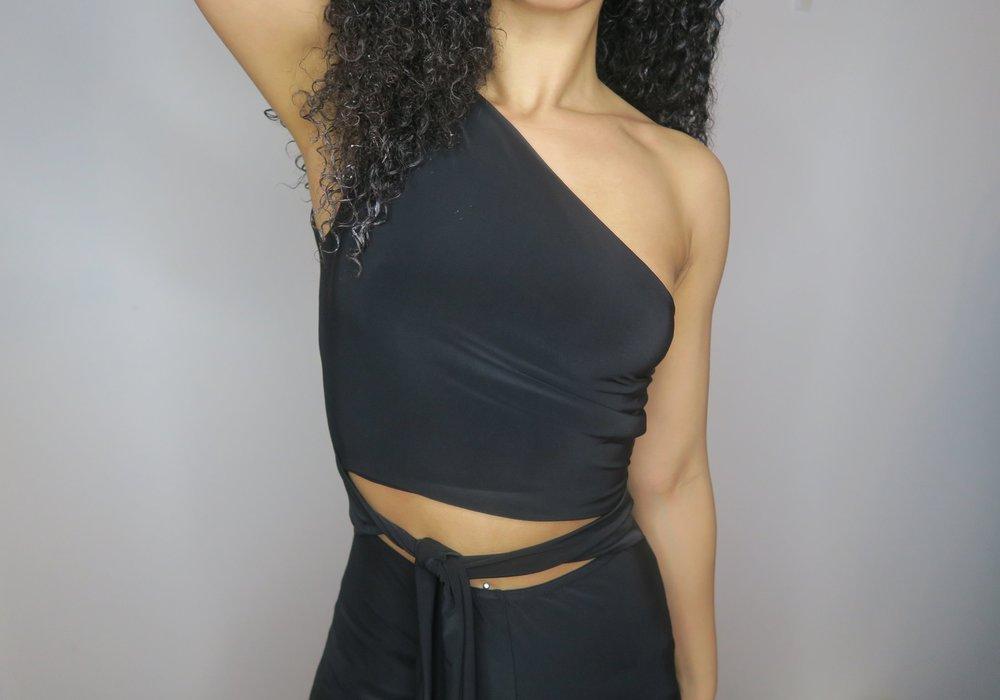 Femme Luxe Cut Out Black Jumpsuit