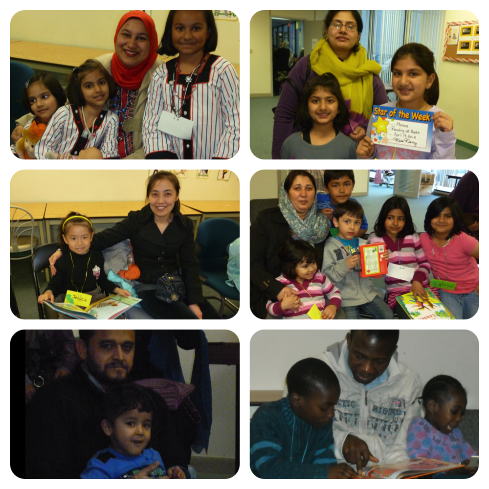 Families who attended Storytime STOP at the PICS Community Room.