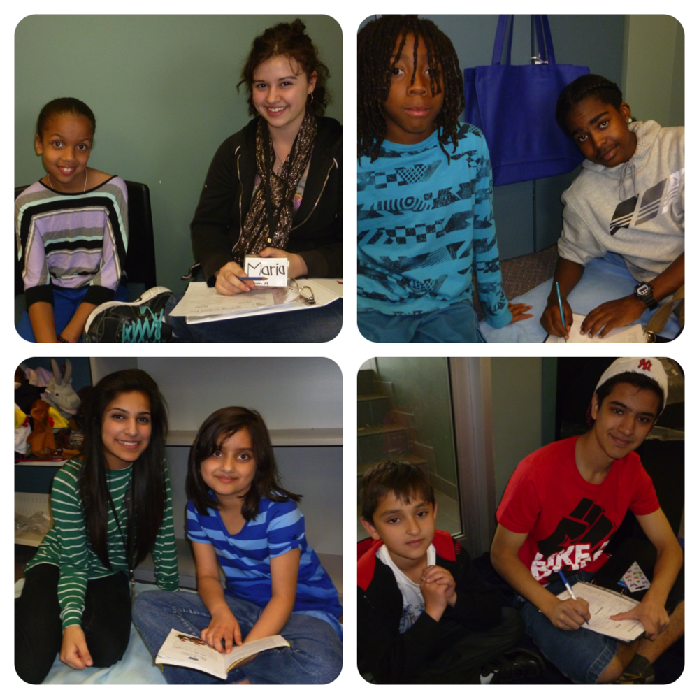 Students from Erindale and John Fraser read at the Sheridan Library with students from Oakridge P.S. These teens became wonderful mentors to their new young friends.