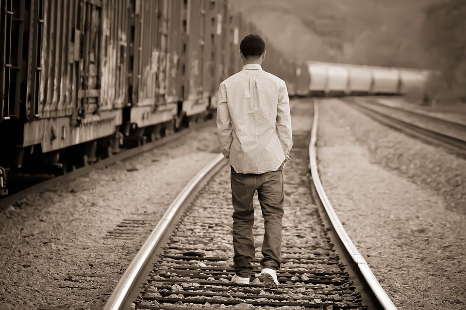 Boy on Train Tracks.jpg