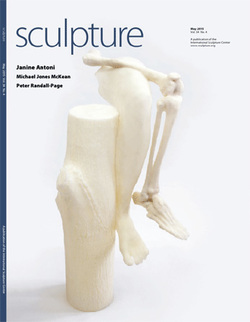 """2015  Sculpture Magazine  Barbara Schreiber """"...Therein lies the beauty, profundity, and intoxicating WTF-ness of her creative practice."""""""