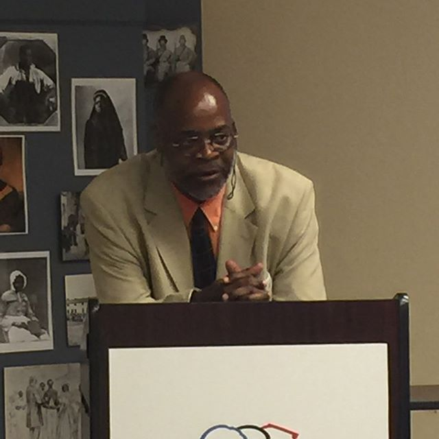 Civil War Virginia's African-Americans were the focus of a Teachers Institute Lecture this afternoon by Ervin L. Jordan. Jordan is an associate professor and research archivist at the Albert and Shirley Small Special Collections Library at the University of Virginia. #acwmti #civilwar #historyteacher