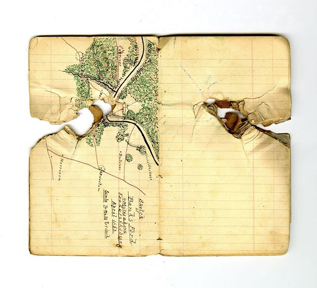 Capt. James Keith Boswell was Stonewall Jackson's Chief of Engineers. He was with Jackson when friendly fire hit both of them. Boswell had this journal in his pocket. #civilwar #artifacts