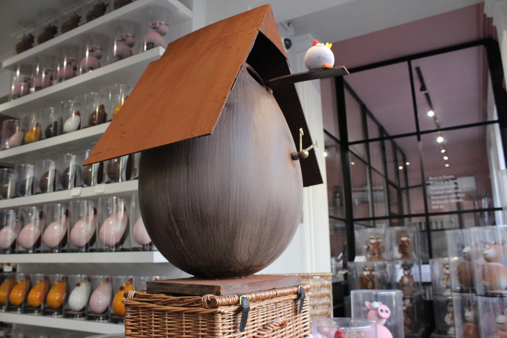 Guess the weight of our giant Easter egg (including chocolate base)