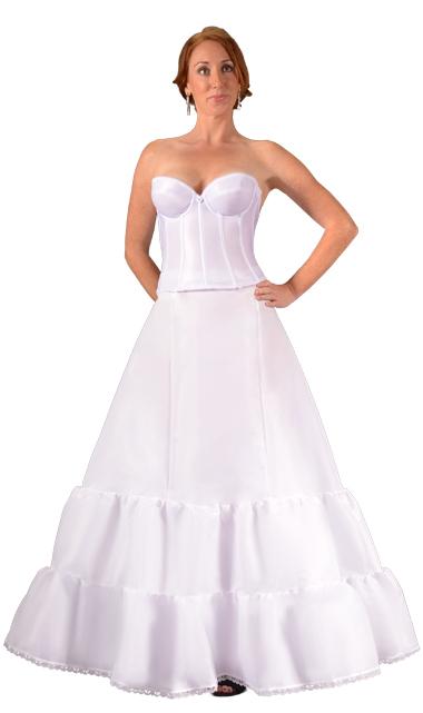Bridal undergarments uptown bride 6055 double ruffle petticoat bridal crinolineg junglespirit Image collections