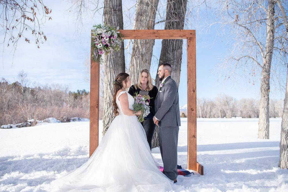 wedding dress barn weddings, Chama, NM, officiant.jpg