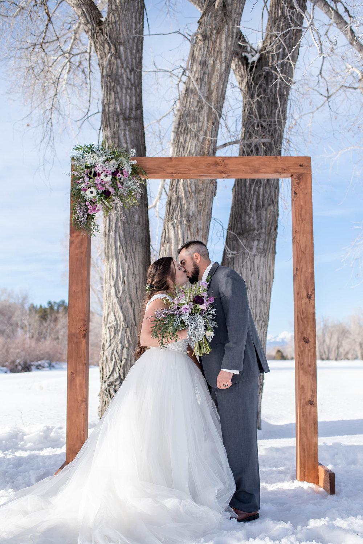 wedding dress barn winter wedding, Chama, NM.jpg