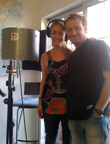 Mollura with Tara Hunewell in recording studio.png