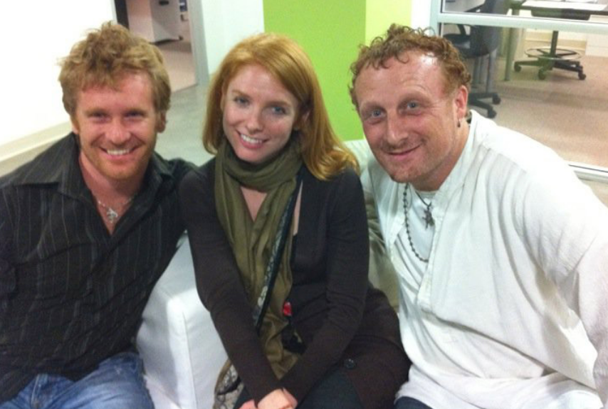 Mollura with producers Adam Schomer and actress Brittney McCarthy.png