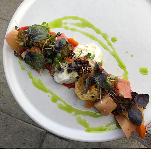 Roast beets with burrata. Photo: Instagram