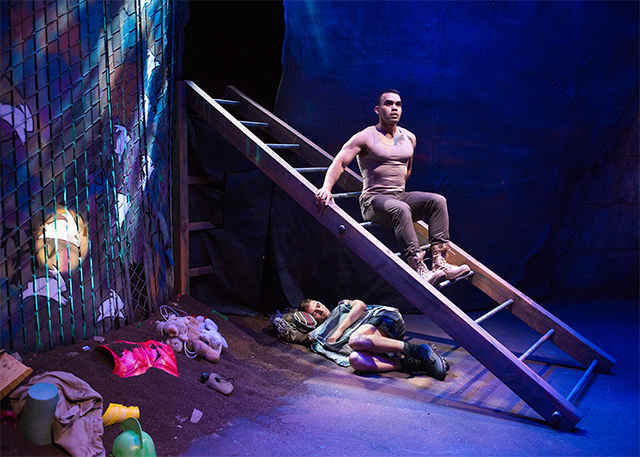 JD Scalzo and Ed Berkeley in 'Warplay.' Photo by Lois Tema