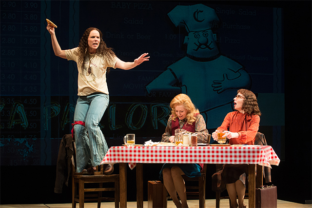 (l to r) Sara Bruner (Norma McCorvey), Sarah Jane Agnew (Sarah Weddington), and Susan Lynskey (Linda Coffee) in 'Roe' at Berkeley Rep. Photo: Jenny Graham
