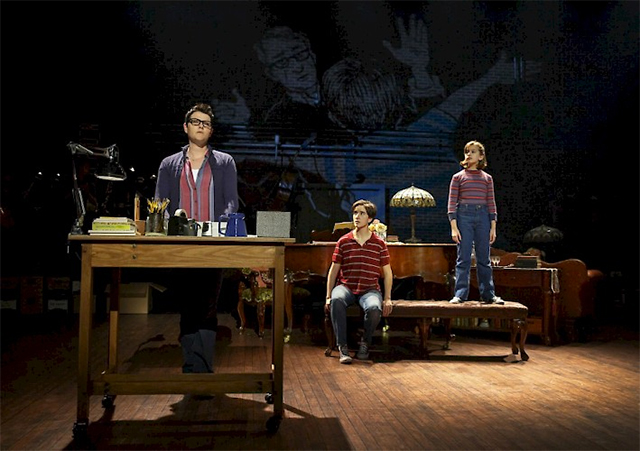 Kate Shindle, Abby Corrigan, and Allessandra Baldacchino in 'Fun Home.' Photo: Joan Marcus