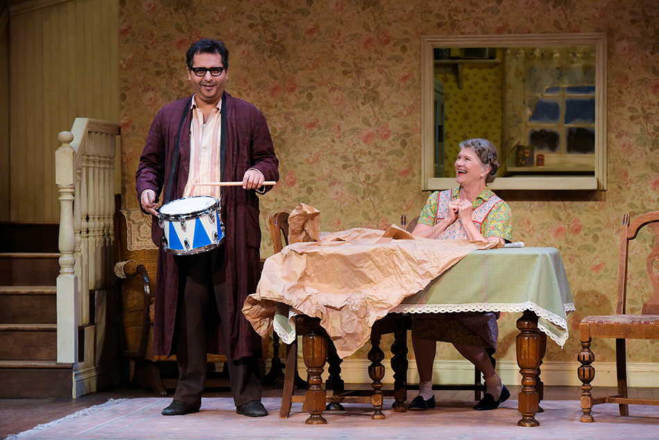 Firdous Bamji (l) and Judith Ivey (r) in 'The Birthday Party' at ACT