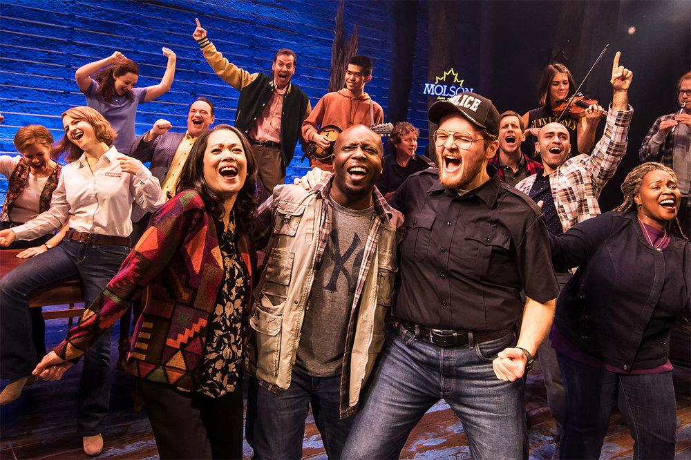 The cast of the North American tour of 'Come From Away.' Photo: Matthew Murphy