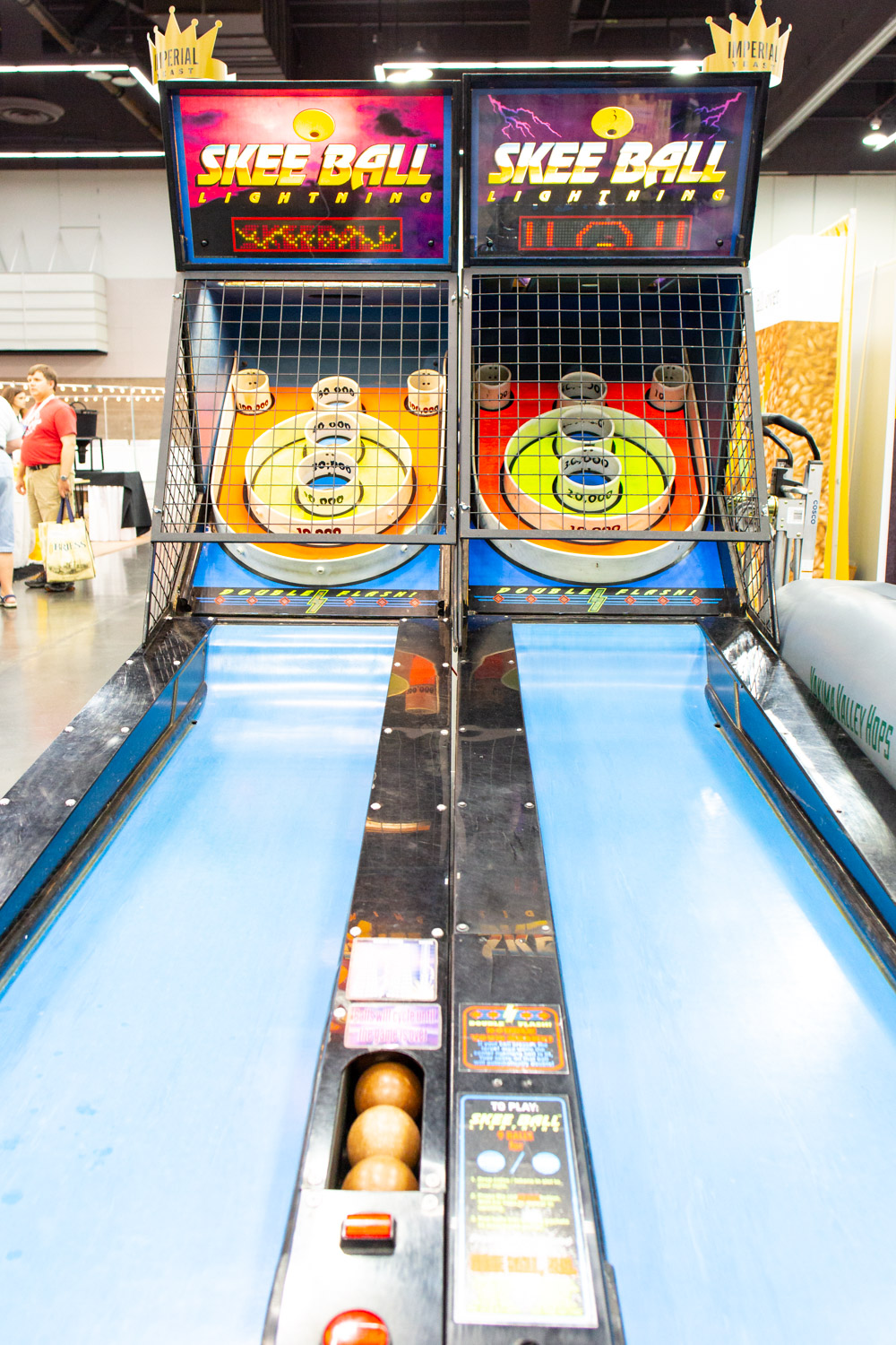 Skee ball courtesy of Imperial Yeast, Mecca Grade Malt, and Yakima Valley Hops