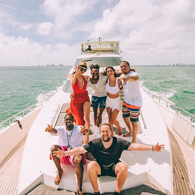 Yesterday we were on a yacht cruising around Miami, celebrating and talking about life with some real good people.