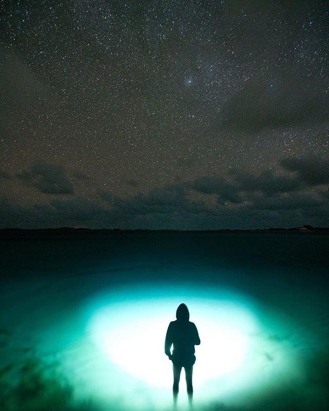 One with the stars while exploring the little islands in the Bahamas.