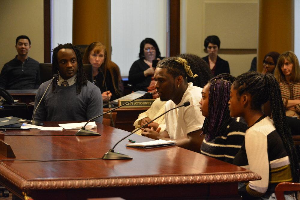 SEI Alumnus Jamartae Brown speaks to the Portland City Council