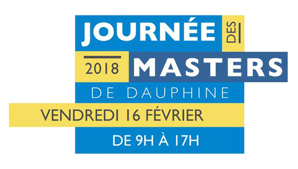 Vous pourrez retrouver les étudiants du Master 214 dans le cadre de la Journée des Masters organisée par l'Université Paris-Dauphine le 16 février prochain. N'hésitez pas à venir faire un tour sur notre stand, qui sera situé dans la cour d'honneur !