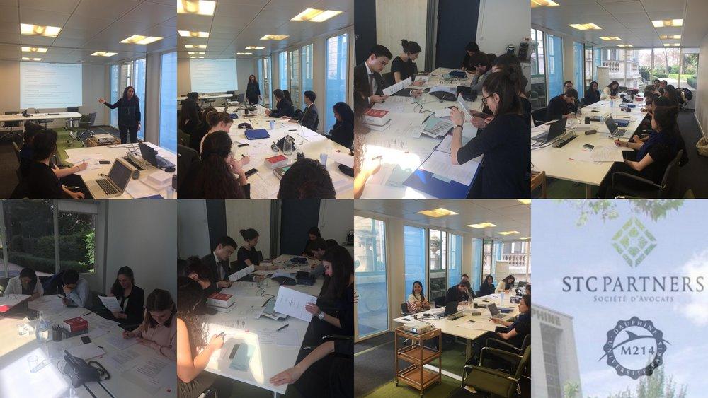 Le vendredi 16 mars, les étudiants du Master 214 ont participé à un atelier pratique de simulation d'une phase majeure d'un projet de fusions-acquisitions : la data-room.
