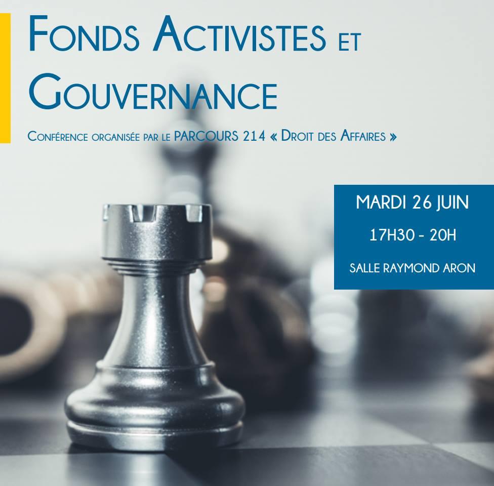 Le Master 214 de l'Université Paris-Dauphine vous invite à sa conférence annuelle sur les Fonds Activistes et la Gouvernance !