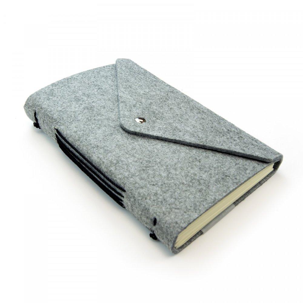 Grey Felt Notebook