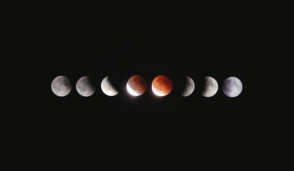 Stages of a lunar eclipse