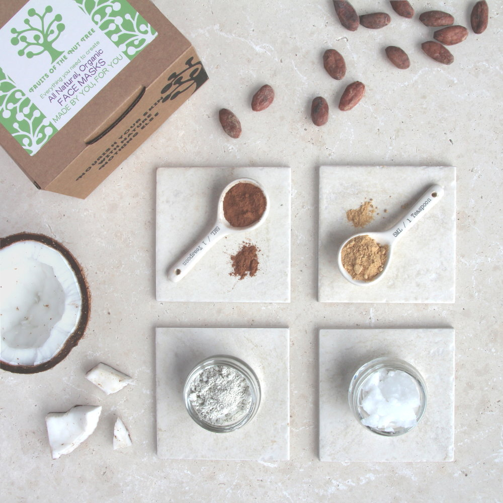 Make your own face mask kit by Fruits of the Nut Tree - £24
