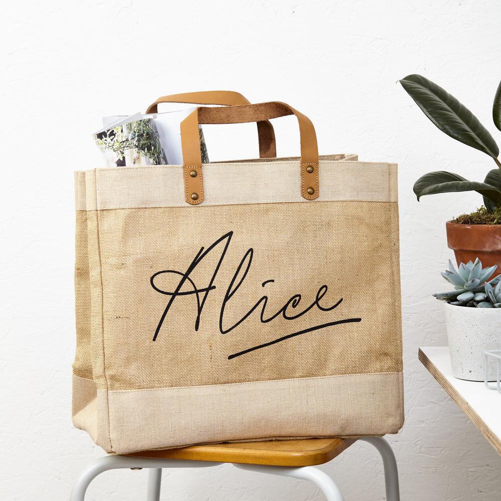 Personalised Jute Bag by Tillyanna - £28