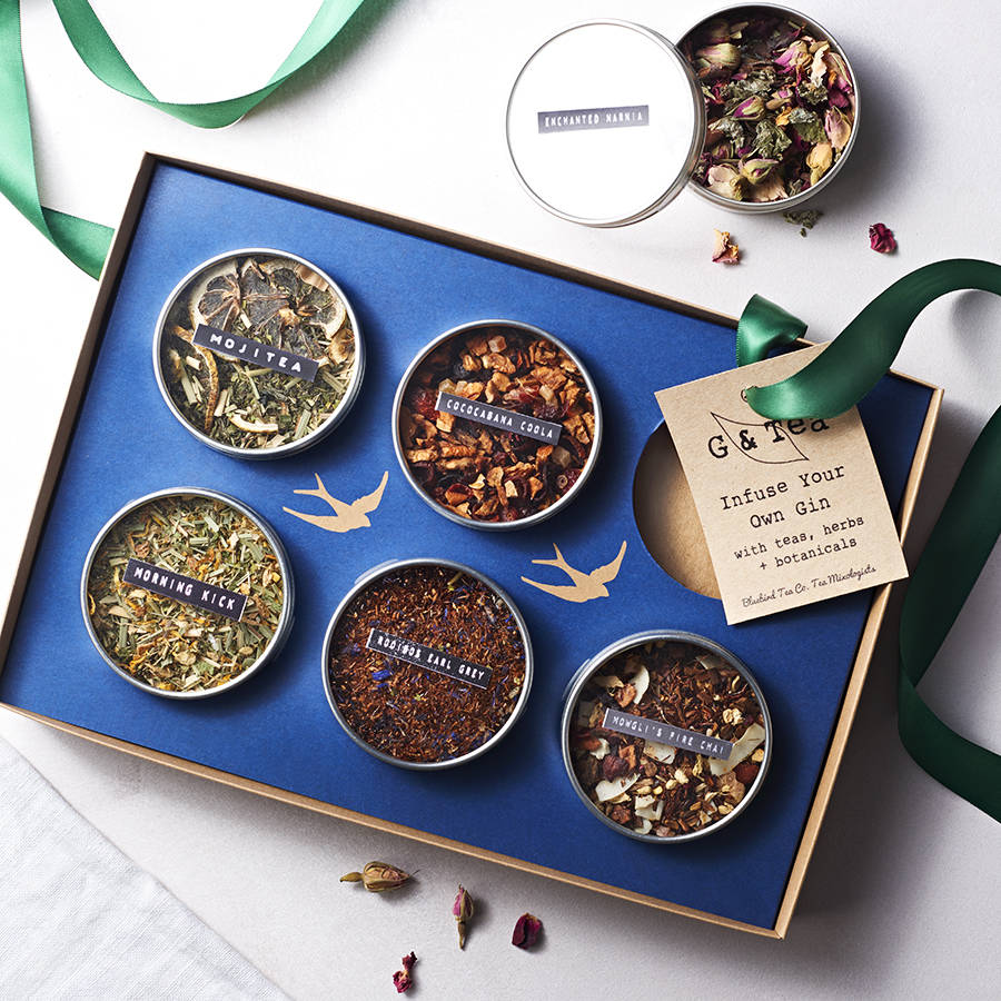 Botanical Infusion Gift Set for Gin & Vodka by Bluebird Tea Co. - £30