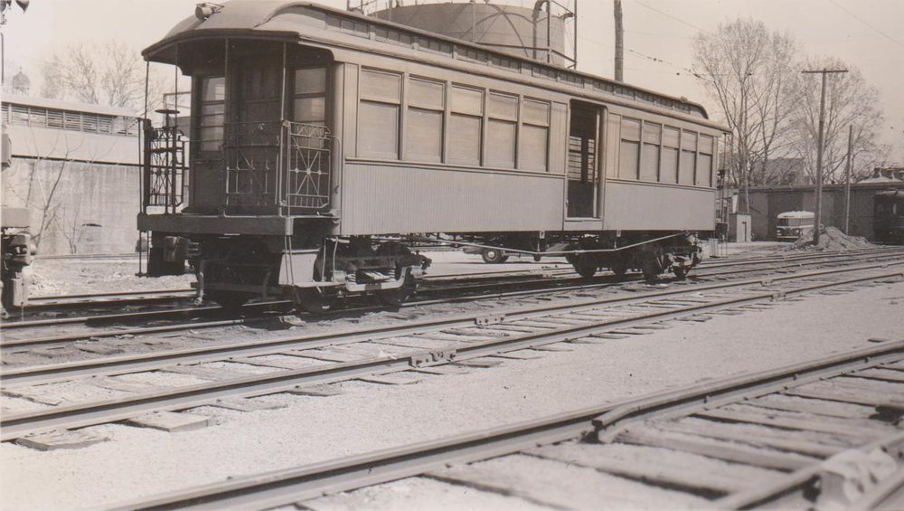 Baltimore & Annapolis Railroad Car at Bladen Street Station. Date: Unknown. Source: Hugh Hayes Collection.