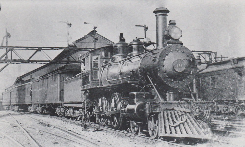 Annapolis Short Line Train #10 leaving Camden Station. The Engine is a Baldwin built 4-4-0. Baltimore, Maryland. Circa 1908. Source: C.B. Chaney, Smithsonian Institution Collection
