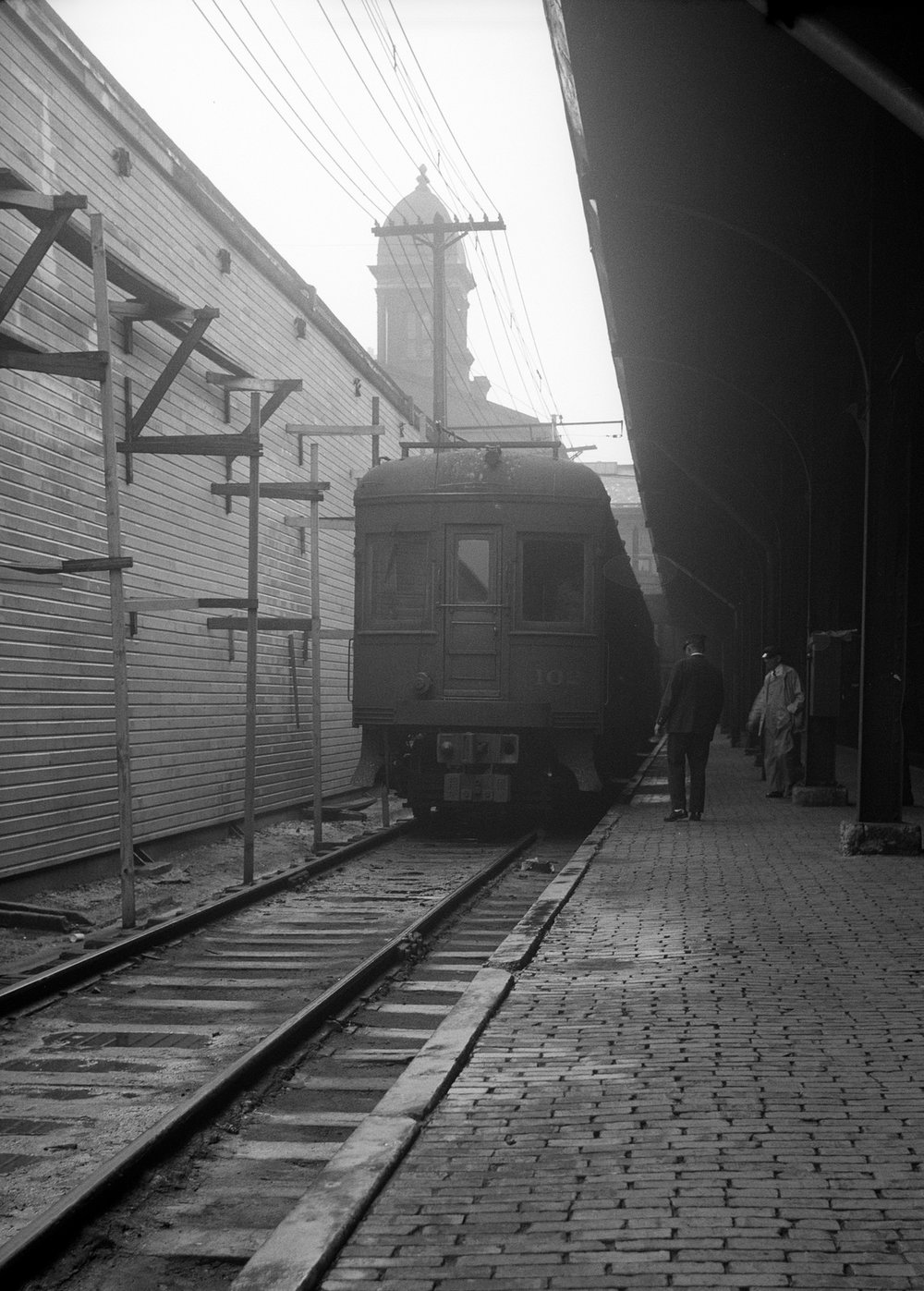 Baltimore & Annapolis Railroad Car #102 Camden Station. Baltimore, Maryland Date: 1940's. Source: Hugh Hayes Collection.