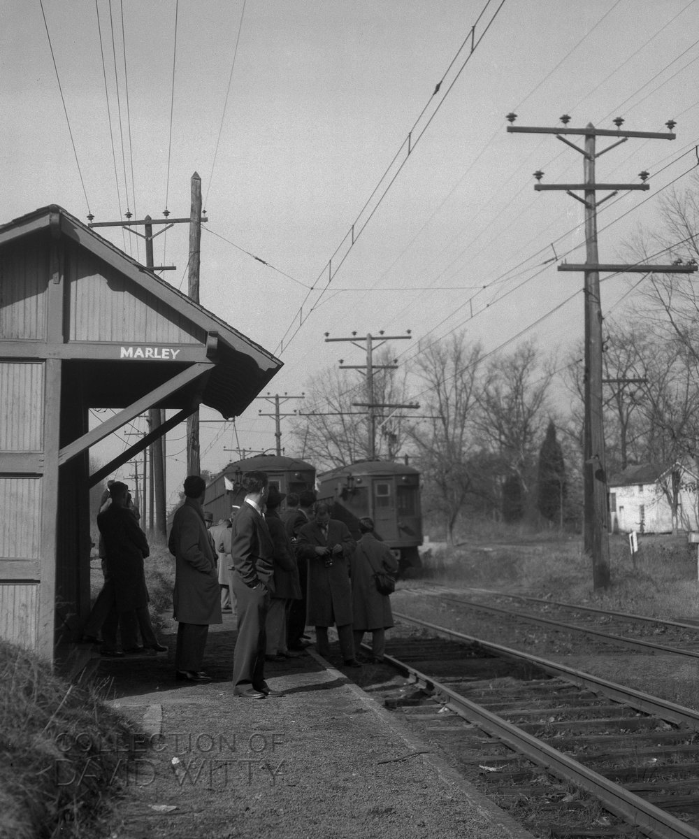 Baltimore & Annapolis Railroad Marley Station. Maryland Date: January 22, 1950. Source: David Witty Collection.