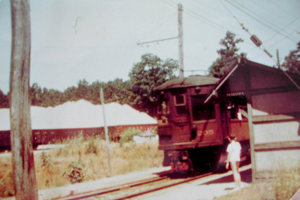 Baltimore & Annapolis Railroad Car #205 at Pasadena Station. Pasadena, Maryland Date: 1947. Source: Unkown