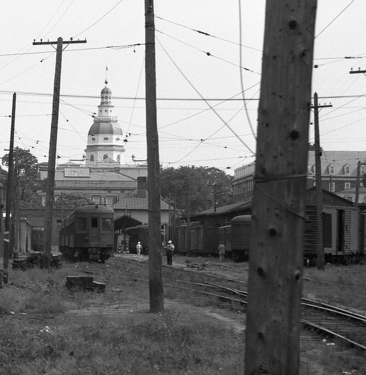 Baltimore & Annapolis Railroad at Bladen Street Station. Annapolis, Maryland. Date: Unknown. Source: David Witty Collection.