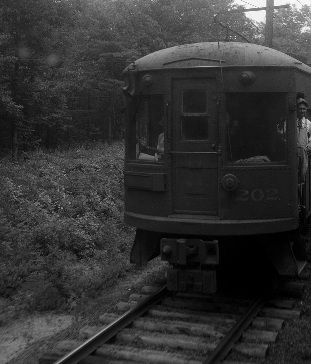 Baltimore & Annapolis Railroad Car #202. Maryland, Circa 1940's. Source: Hugh Hayes Collection.