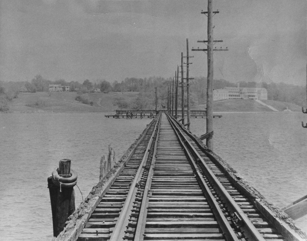 The Severn River Bridge. Looking towards the North Shore, Manresa can be seen to the right. Annapolis, Maryland. Date: Sometime after 1926. Source: Maryland State Archives.
