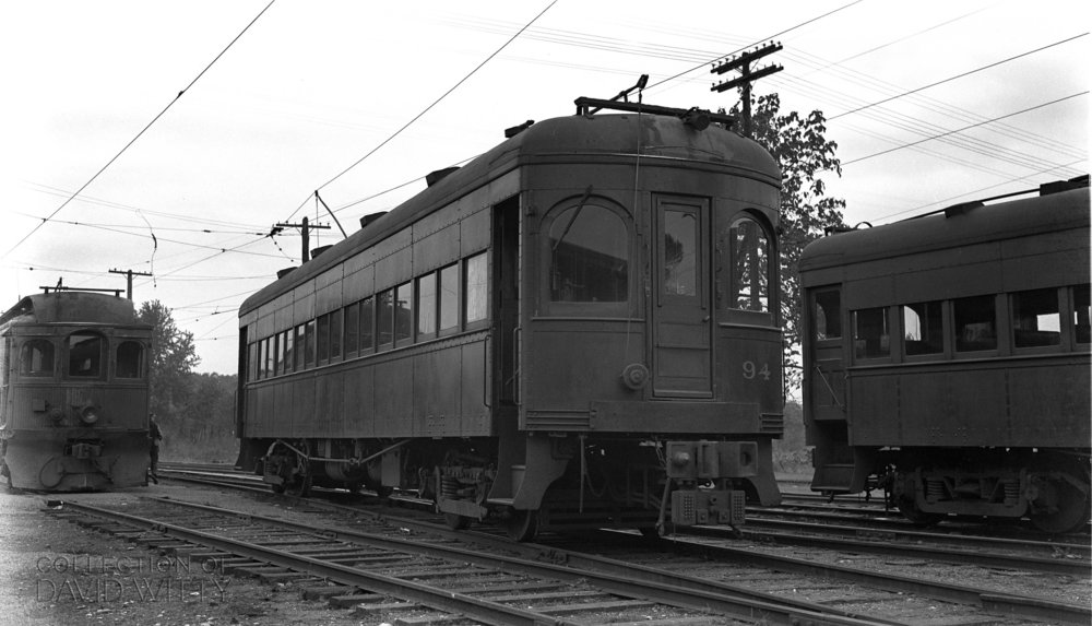 Baltimore & Annapolis Railroad Car #94 at Bladen Street Station. Date: November 1940. Source: David Witty Collection.