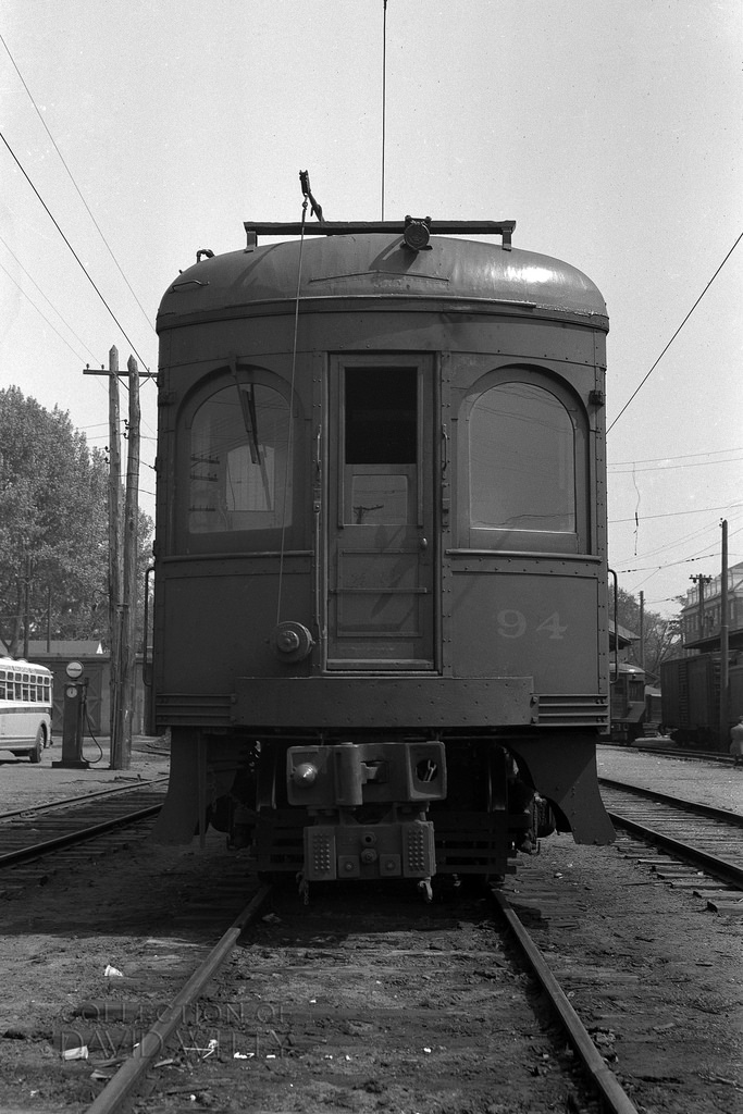 Baltimore & Annapolis Railroad Car #94 at Bladen Street Station. Date: May 25th, 1942. Source: David Witty Collection.