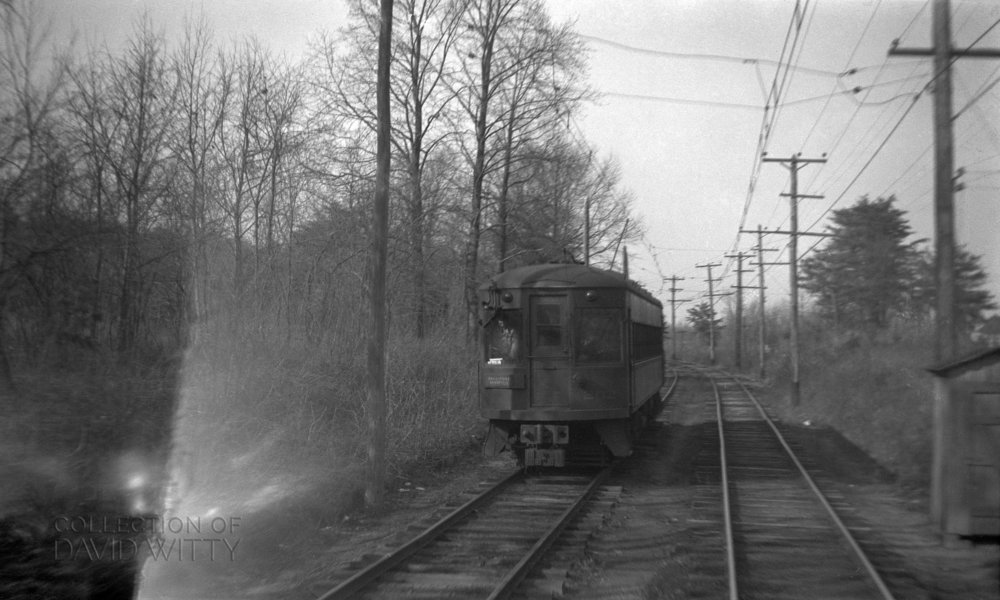 Baltimore & Annapolis Railroad car somewhere near Glen Burnie, Maryland. Date: May 25, 1942. Source: David Witty Collection.