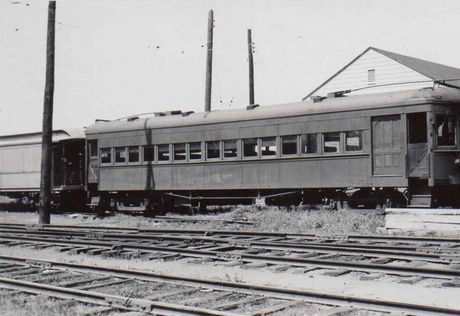 Baltimore & Annapolis Railroad Car#97 at Bladen Street Station. Annapolis, Maryland Date: May 11, 1947. Source: Unknown.