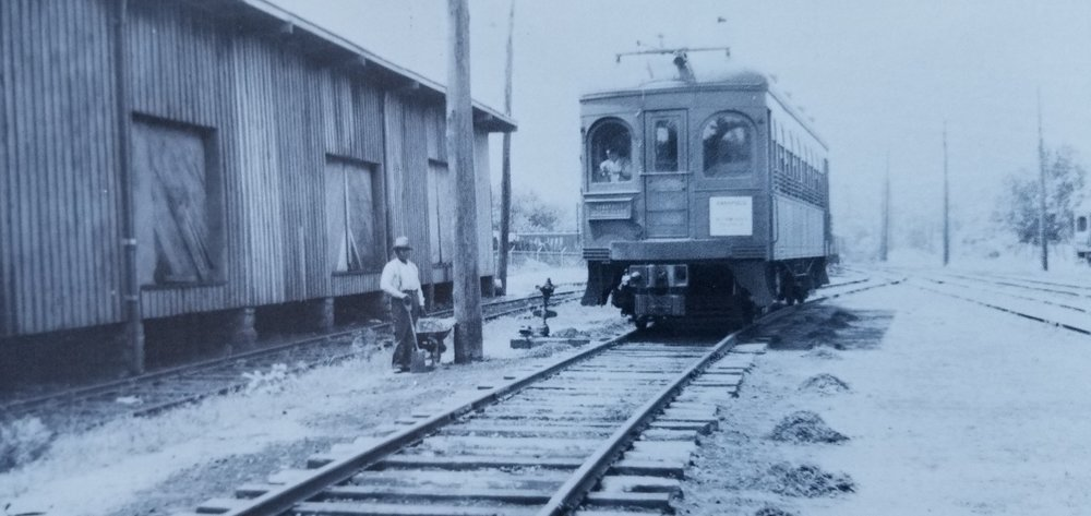 Baltimore & Annapolis Railroad Car #91 from Baltimore at the Bladen Street Station. Annapolis, Maryland Date: July 13, 1935. Source: James P. Shuman Photography.