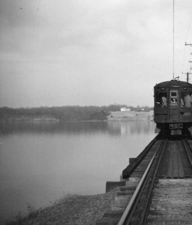 Baltimore & Annapolis Railroad Car crossing the Severn River Bridge. Annapolis, Maryland Date: Unknown. Source: Unknown.