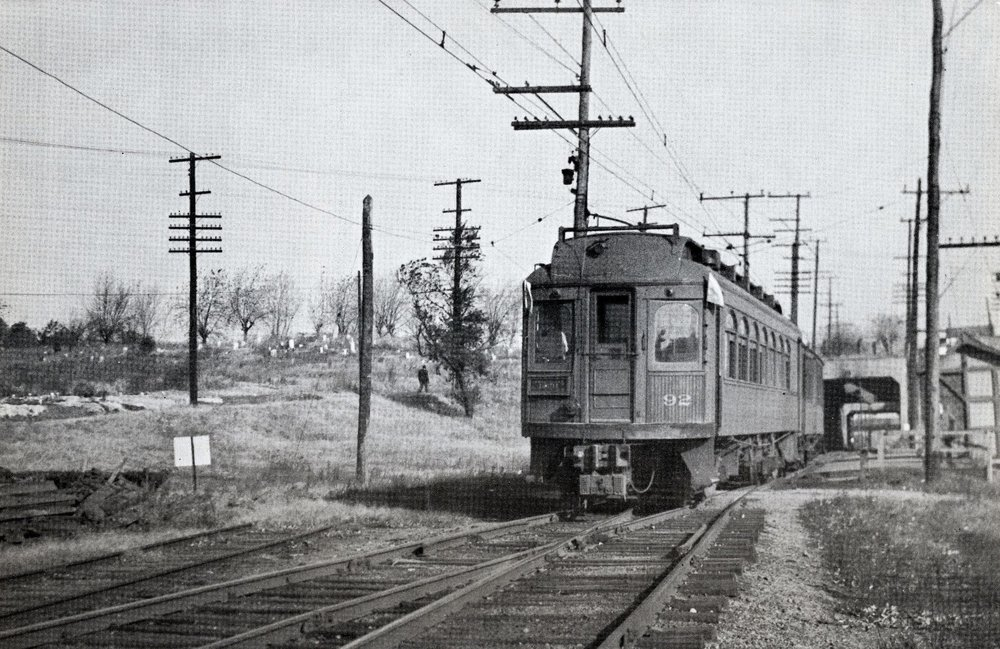 Baltimore & Annapolis Railroad Car #92 at Westport Station. Date: November 1941. Source: R.S. Crockett Collection.